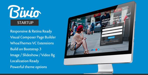 Bivio v1.3.1 – Bootstrap 3 App Landing Page WordPress