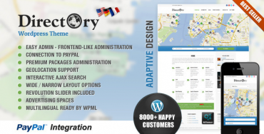 Directory Portal v4.18 – Themeforest WordPress Theme