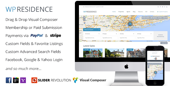 WP Residence v1.10.1 – Real Estate WordPress Theme