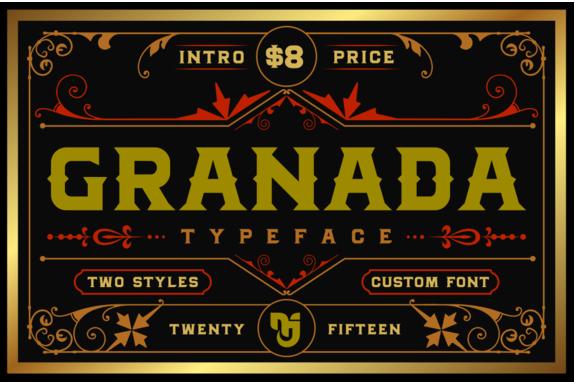 Download Granada Typefaces Intro Price Font Free