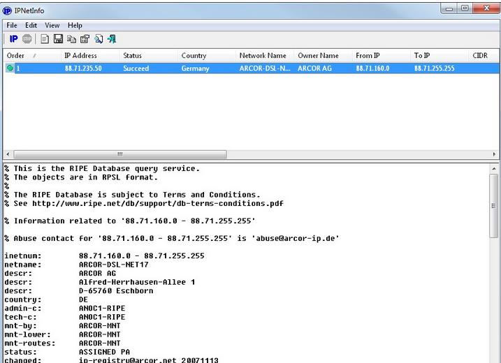 Download IP Net Info Tool