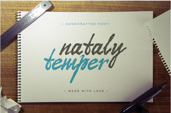 Download Nataly temper font Free