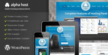 Download Alpha – Themeforest Modern Hosting WordPress Theme