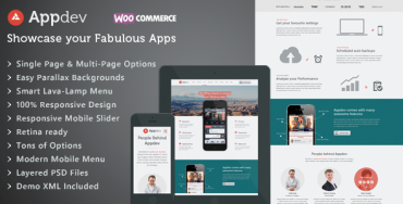 Download Appdev v2.5 – Themeforest Mobile App Showcase WordPress Theme
