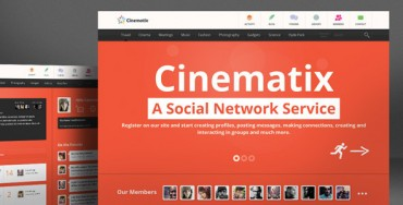 Download Cinematix v1.1.7 – Themeforest BuddyPress Theme