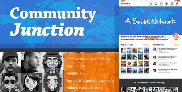CommunityJunction v1.2.1 – BuddyPress Theme