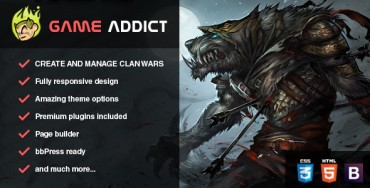 Download Game Addict – Themeforest Clan War Gaming Theme