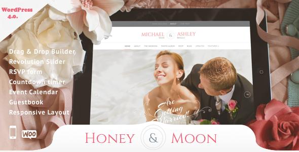 Honeymoon v2.0 – Wedding Responsive Theme