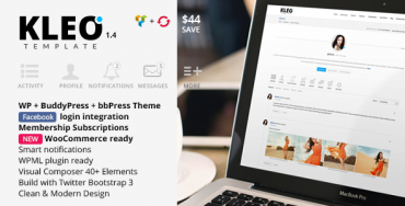 KLEO v2.3 – Next level Premium WordPress Theme (Latest Version)