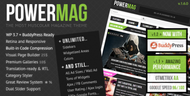 PowerMag v1.6  Download – Themeforest The Most Muscular Magazine/Reviews Theme