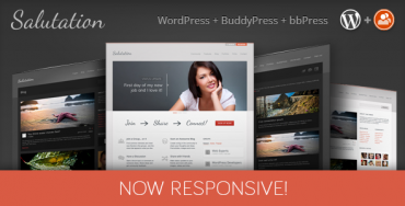 Salutation v3.0.2 Responsive WP + BuddyPress Download