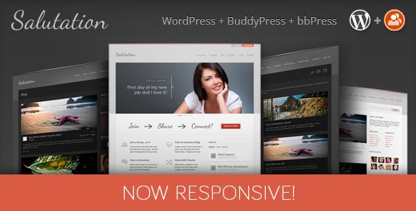 Salutation v3.0.4.4 – Responsive WP + BuddyPress
