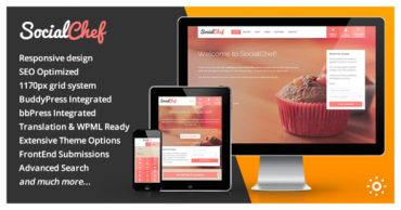 SocialChef v1.11 – Social Recipe WordPress Theme