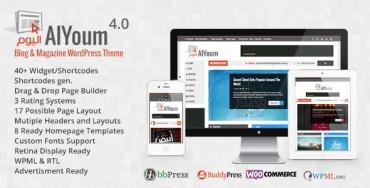 AlYoum v4.4 – Retina Magazine & Blog WordPress Theme
