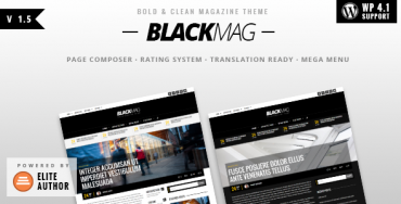 BLACKMAG v1.5 – Bold & Clean Magazine Theme