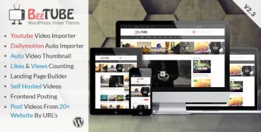 BeeTube – Video WordPress Theme