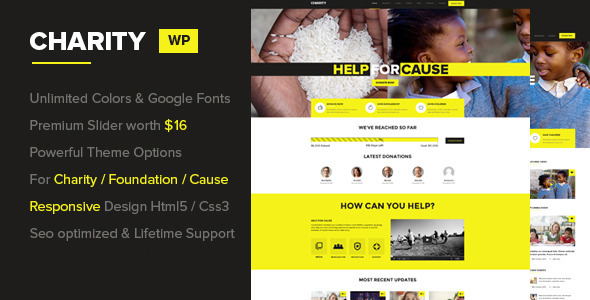 Charity v1.0.3 – Foundation/Fundraising WordPress Theme