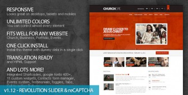 Download ChurcHope v1.12.1 – ThemeForest Responsive WordPress Theme