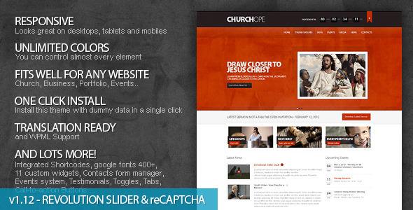 Download ChurcHope v1.12.1 – ThemeForest Responsive WordPress Theme