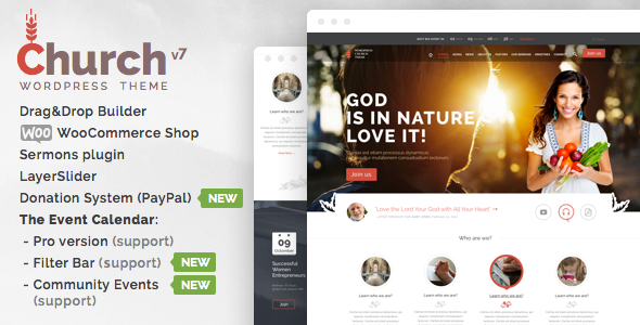 Download Church and Events – Responsive WordPress Theme
