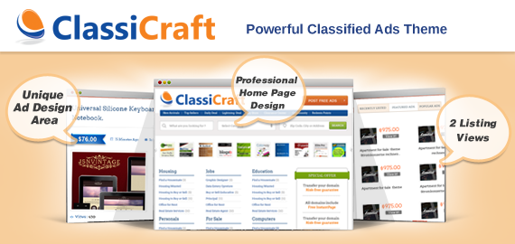 Download ClassiCraft – Inkthemes Classified Ad Listing WordPress Theme
