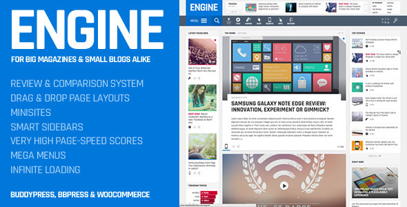 Engine v1.2 – Drag and Drop News Magazine w/ Minisites