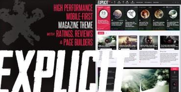 Explicit v2.2 – High Performance Review/Magazine Theme