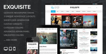 Exquisite v1.3.3 – Ultimate Newspaper Theme
