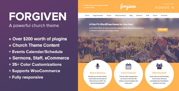 Download Forgiven v1.3.5 – A Powerful WordPress Theme for Churches