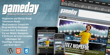 Gameday v2.3 – WordPress Sports Media Theme