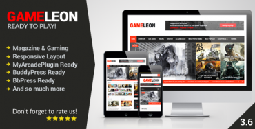 Gameleon v3.6 – WordPress Magazine & Arcade Theme