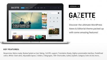 Gazette Magazine v1.8 – WordPress Community Theme