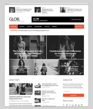 Glob – Newspapers WordPress Theme