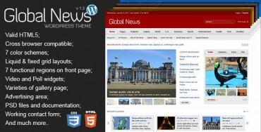Global News Portal v1.3 – Responsive WordPress Theme