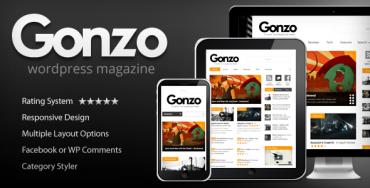 Gonzo v1.9.3 – Clean, Responsive WP Magazine