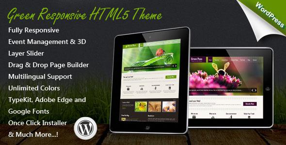 Download Green v1.4.0 – Themeforest Responsive WordPress Theme