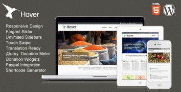 Download Hover v1.1 – ThemeForest Responsive WordPress Theme