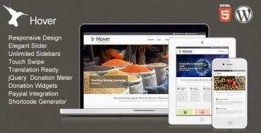 Download Hover v1.1 – ThemeForest Responsive WordPress Theme