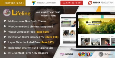 Lifeline – NGO Charity Fund Raising WordPress Theme