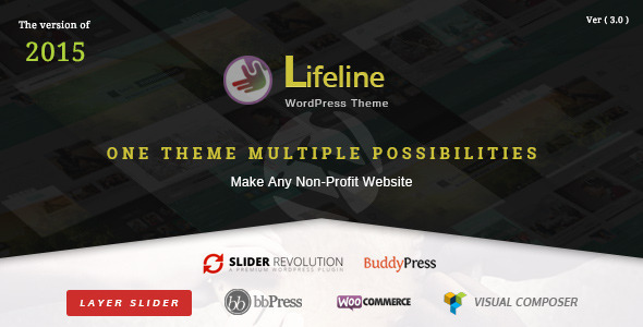 Lifeline v3.0.2 – NGO Charity Fund Raising WordPress Theme