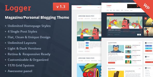 Logger v1.3 – Magazine/Personal Blogging Theme