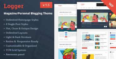 Logger v1.5 – Magazine/Personal Blogging Theme