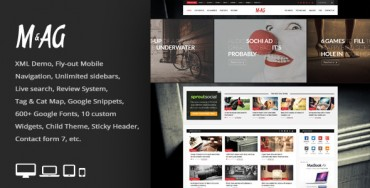 MAG v1.5 – Grid Magazine / News WordPress Theme