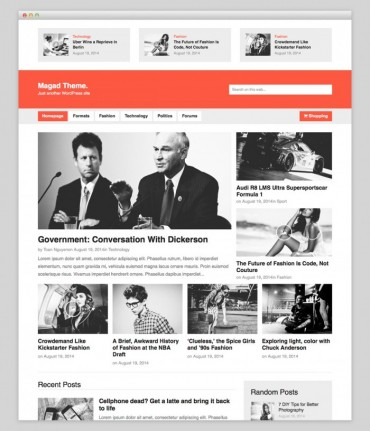 Magad – Blog WordPress Theme