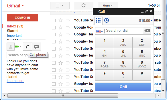 How To Make Calls From Gmail Account Online