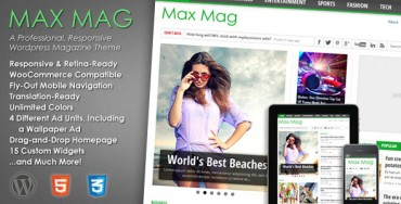 Max Mag v2.2 – Responsive WordPress Magazine Theme