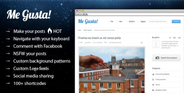 Me Gusta! v2.9 User-driven Content Sharing Theme