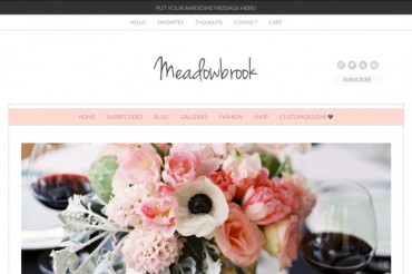 Meadowbrook v2.3 – Creativemarket Modern WordPress Theme