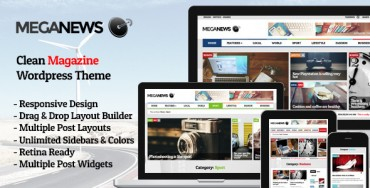 Meganews v1.5 – Magazine Responsive WordPress Theme