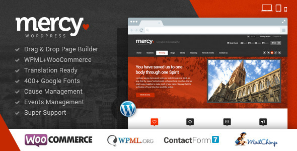 Download Mercy-NGO v1.4 – Themeforest Charity & Environmental/Political theme